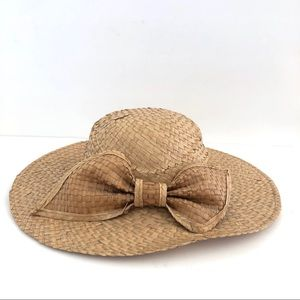 Kentucky Derby Summer Church Hat • Tan Straw hat
